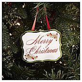 Wooden Merry Christmas Sign Christmas Tree Decoration
