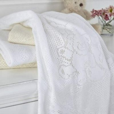 Clair de Lune Extra Soft Brushed Teddy Cot/Cot Bed Blanket (Ivory)