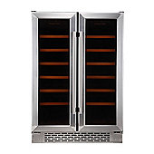 Russell Hobbs RHBI36DZWC2SS Integrated & Freestanding 36 Bottle Wine Cooler - Stainless Steel