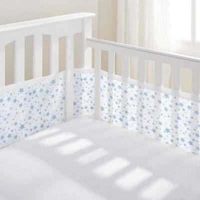 Breathablebaby 4-Sided Cot Liner - Twinkle Twinkle (Blue Stars)