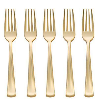 Premium Gold Plastic Forks