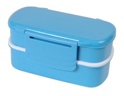 Polar Gear 3 Compartment Bento Lunch Box with Ice Pack, Turquoise Blue