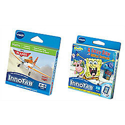 Vtech Innotab Games Bundle - Spongebob And Disney Planes - 2 Items Supplied