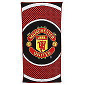 Manchester United Fc 'Bullseye' Football Printed Beach Towel