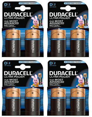 Duracell BUN0079A Alkaline non-rechargeable battery D 8 Pack