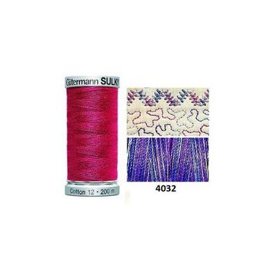 Gutermann Sulky Variegated Cotton 200m Iris
