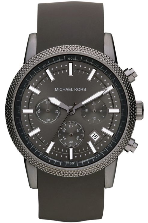Michael Kors Gents Chronograph Black Rubber Strap Watch MK8241