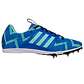 adidas Allroundstar Kids Running Spike Trainer Shoe Blue - UK 6