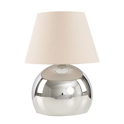 Mojo 40cm Touch Table Lamp - Chrome & Beige