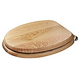 Croydex Bloomfield 'Sit Tight' Double Fixed Toilet Seat - Traditional Oak