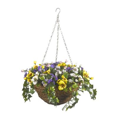 Smart Garden 30cm Artificial Pansy Hanging Basket