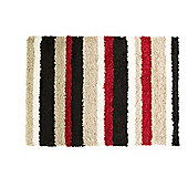 Nordic Channel Black & Red Rug - 120x170cm