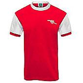 Arsenal FC Mens 1971 Retro Shirt - Red