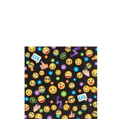 Smiley Beverage Napkins - 2ply Paper