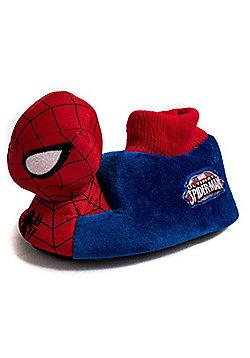 Marvel Spiderman Red & Blue Childrens 3D Plush Boys Slippers - Blue