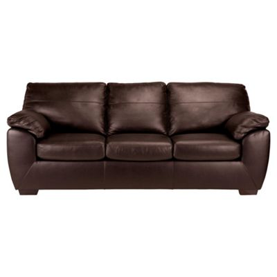 Alberta Sofa Bed, 3 Seater Sofa Chocolate