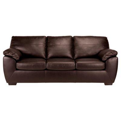 Alberta Sofa Bed, 3 Seater Sofa Chocolate