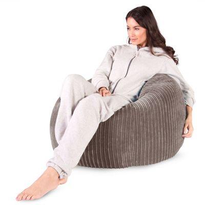 Lounge Pug® Classic Bean Bag Chair - Cord Mink