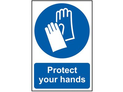 Scan Protect Your Hands - PVC 200 x 300mm