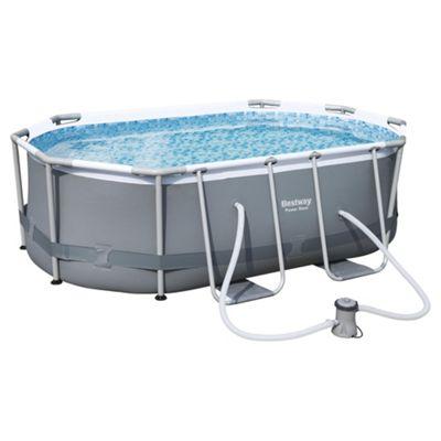 Bestway 3m x 2m x 84cm Power Steel Oval Frame Pool Set