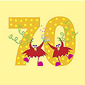 Holy Mackerel Greetings card- 70th Birthday