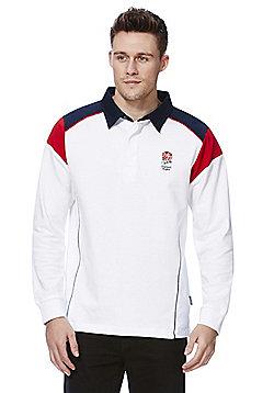 RFU England Rugby Long Sleeve Rugby Shirt - White