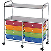 Aspen 8 Drawer Storage Trolley - Multi-Colour