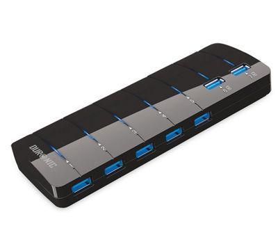 Duronic USB307BH BLACK High Speed 5Gbps - 7 Port USB 3.0 Hub