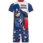 Marvel Avengers Boys Short Pyjamas - Blue