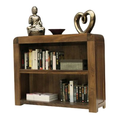 Baumhaus Shiro Low Bookcase in Walnut