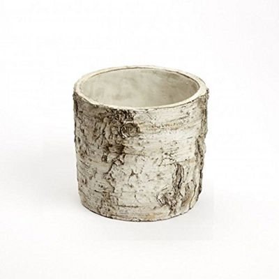 Burgon & Ball Nordic Ceramic Silver Birch Tree Bark Plant Pot Small