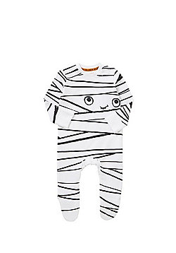 F&F Mummy Halloween Sleepsuit - White