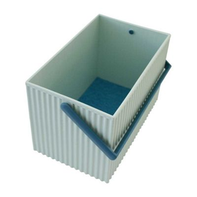 Hachiman Omnioffre Stacking Storage Box Medium Sky Blue