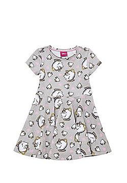 Disney Princess Beauty and the Beast Chip Jersey Dress - Grey