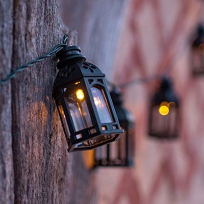 Buy 16 Black Moroccan Lantern Solar Led Fairy Lights From