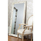 Large Ivory Ornate Antique Shabby Chic Wall Mirror 5Ft6 X 2Ft7, 168Cm X 79Cm