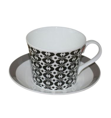 Roy Kirkham Jumbo Breakfast Cup and Saucer in Primrose Bordier Design 43663