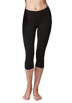 Women's Fitness Gym Sports Cropped Leggings - Black