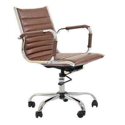 Jenson Faux Leather Office Chair Vintage Brown