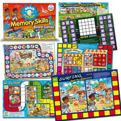 Smart Kids Six Memory Skills Board Games