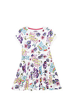 Hasbro My Little Pony Flared Jersey Dress - White & Multi