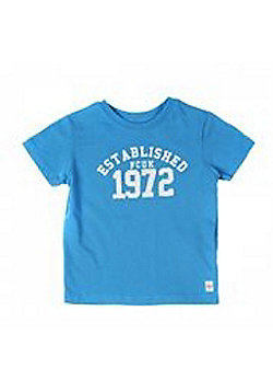 French Connection Blue '1972' Logo Tee - Available In 3-4Y/5-6Y/6-7Y - Blue