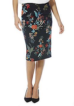 F&F Tropical Print Pencil Skirt - Multi