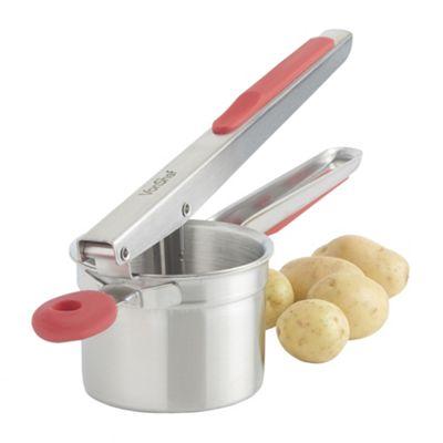 VonShef Stainless Steel Potato Ricer Masher, Red
