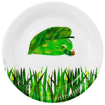 Buy Hungry Caterpillar Plates - 23cm Paper Party Plates - 12 Pack ...
