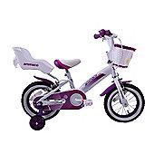 """Ammaco Cutie 14"""" Wheel Girls Bike Purple"""