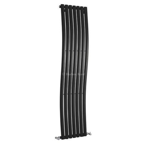 Hudson Reed Revive Wave Designer Radiator 1785mm x 413mm High Gloss Black