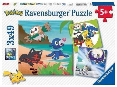 Pokemon - 3 x 49pc Puzzle