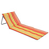 Folding Sun Lounger Beach Mat - Orange