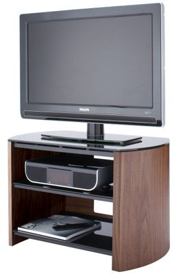 Walnut Real Wood TV Stand for screens up to 37 inch